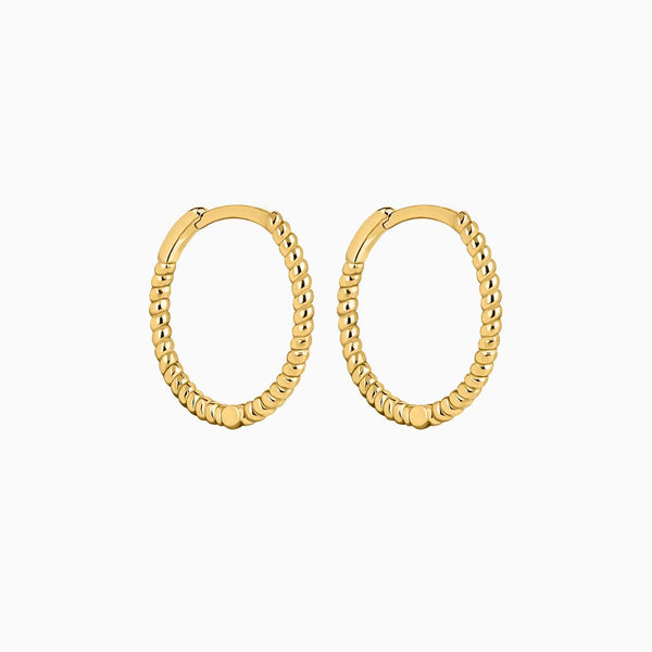 Spyral Hoop Earrings Gold