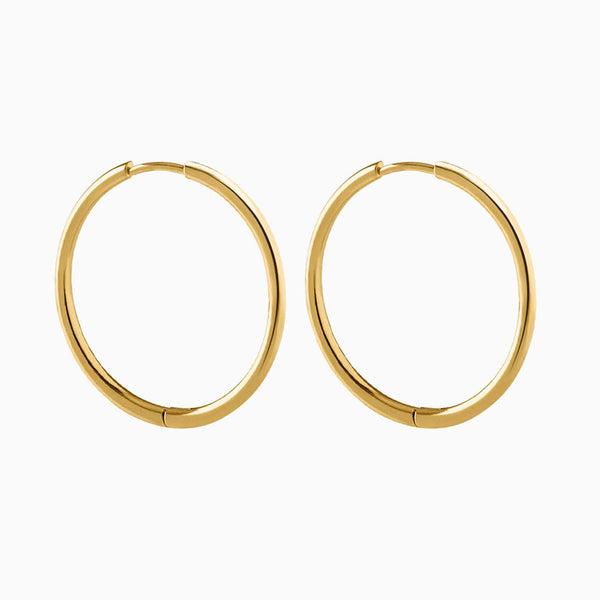 Boucles d´oreilles Basic 33 Thin Hoop Or