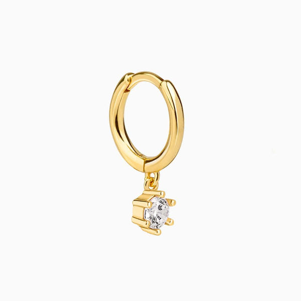 Solitary Hoop Piercing Gold