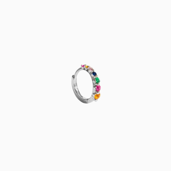 Piercing Aro Degrade Circonitas Multicolor Plata