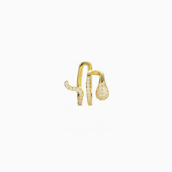 Ear Cuff Serpiente Oro