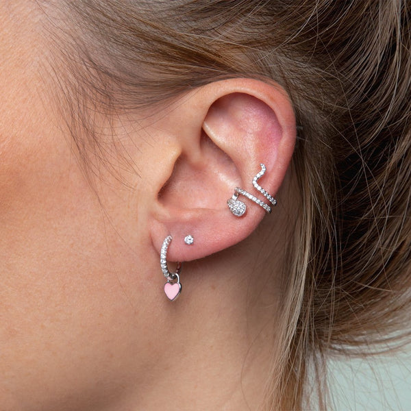 Ear Cuff Serpiente Plata