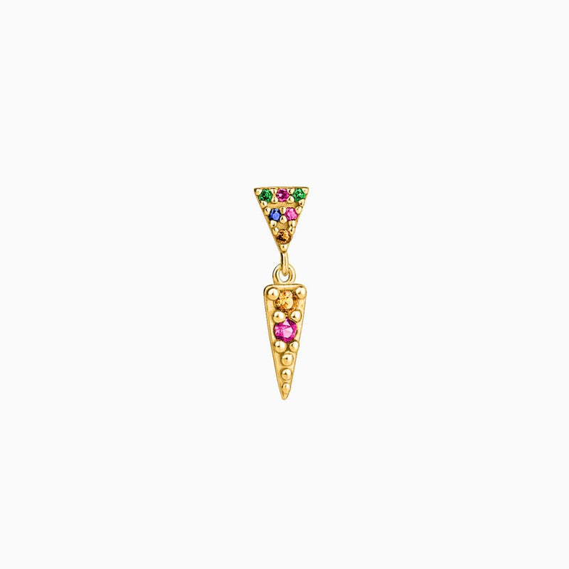 Piercing Triangle Circonitas Multicolor Oro