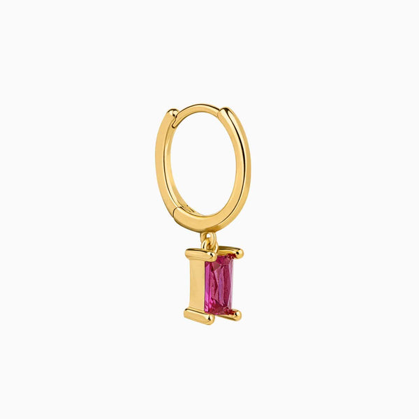 Anel Piercing Baguette Ruby Gold