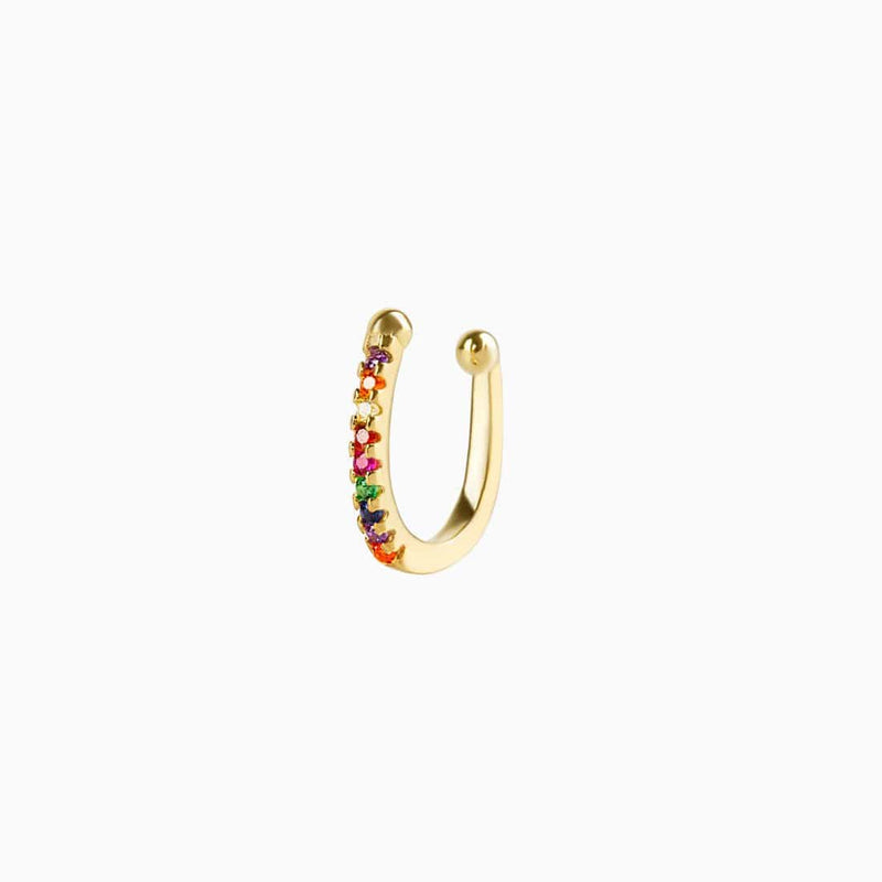 Ear Cuff Rainbow Oro