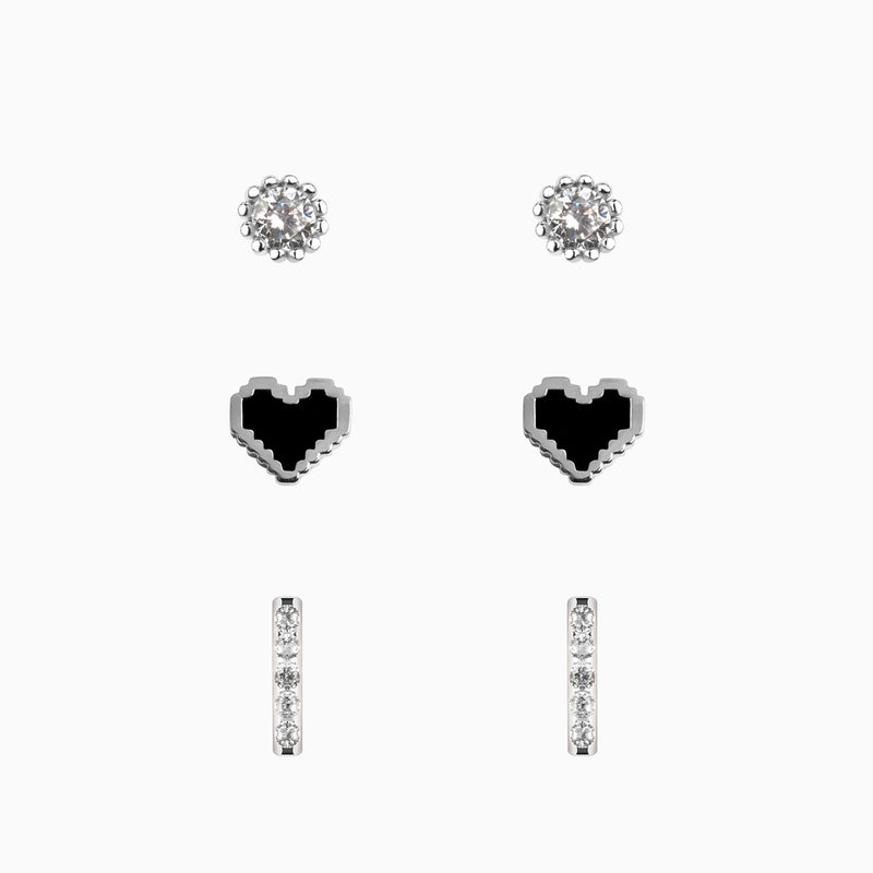 Set de Pendientes Black Love