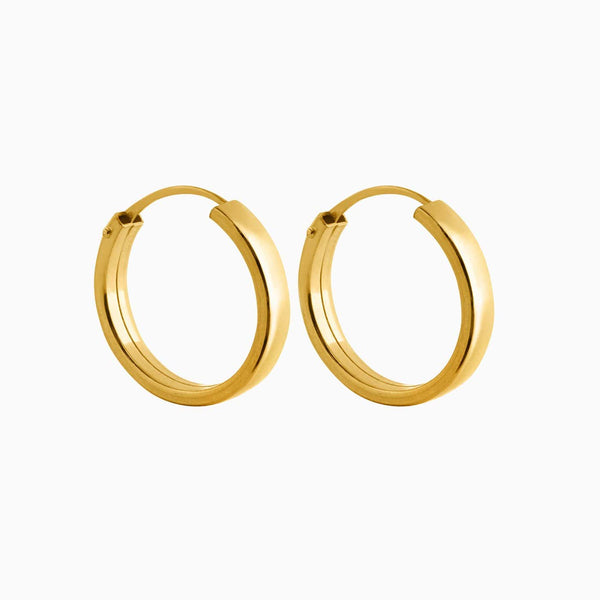 Shallow Hoop Earrings Gold