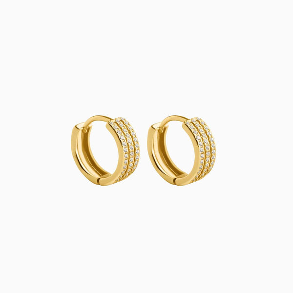 Earrings Treble Hoop Gold