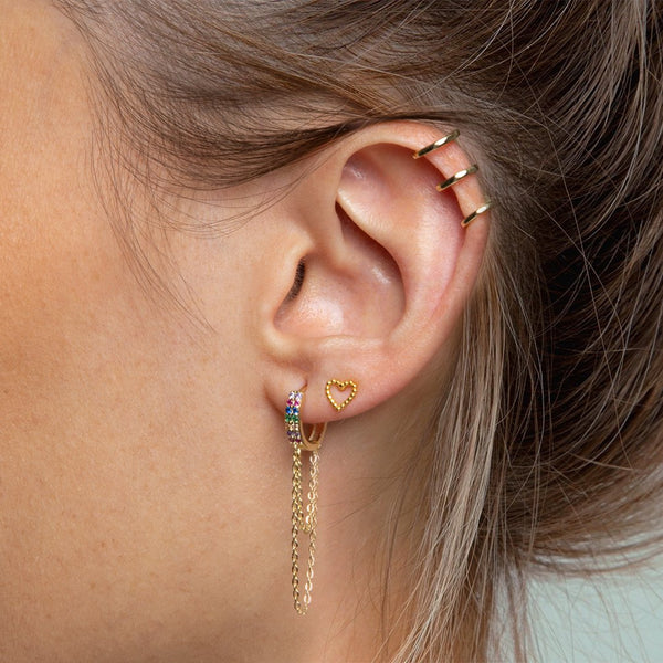Ear Cuff Triple Oro