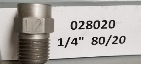"Sealcoat Spray Tip 1/4"" NPT (80/20x1/4"")"