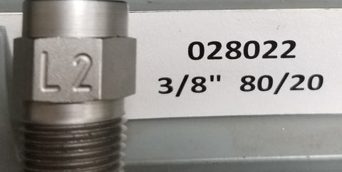 "Sealcoat Spray Tip 3/8"" NPT (80/20x3/8"")"