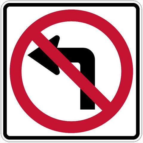 No Left Turn Sign R3-2