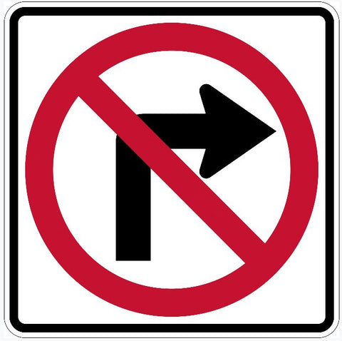 No Right Turn Sign R3-1