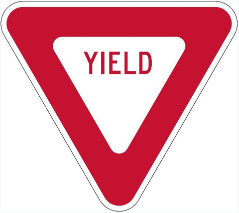 Yield Sign R1-2 MUTCD Compliant