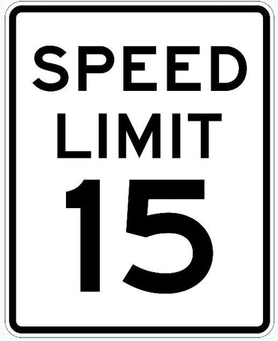 Speed Limit Sign 15 R2-1