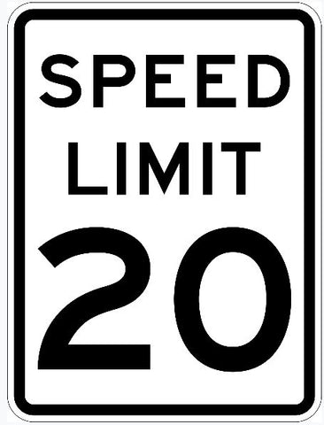 Speed Limit Sign 20 R2-1