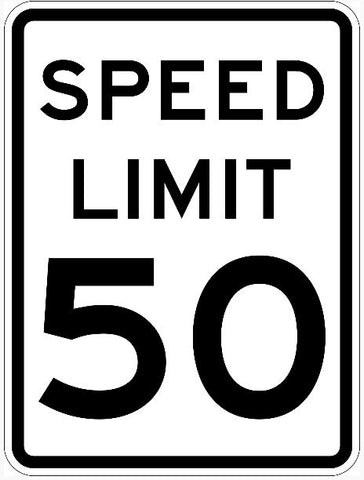 Speed Limit Sign 50 R2-1