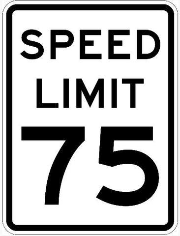 Speed Limit Sign 75 R2-1