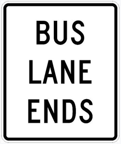 Bus Lane Ends Sign R3-12G