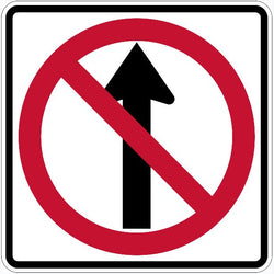 No Straight Through Symbol Sign R3-27