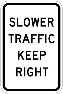 Slower Traffic Keep Right Sign R4-3