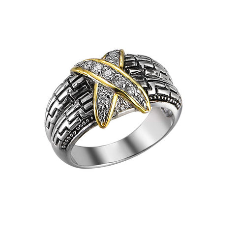 Gold Cross, Filigree Band