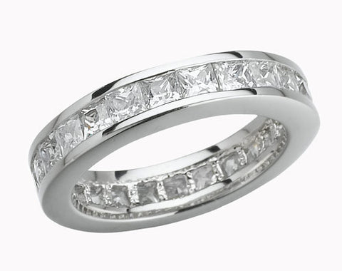 Square, Channel Set, Eternity Band