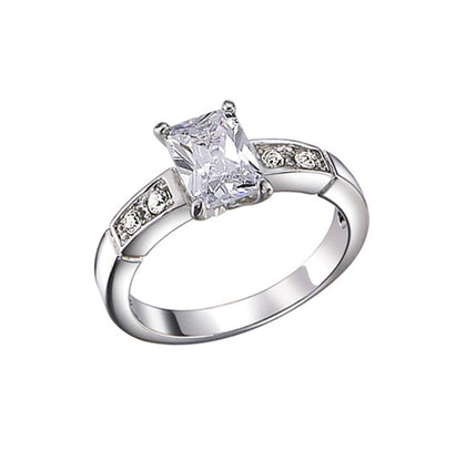 Emerald Cut, Four-Prong, Channel Set Round Accents