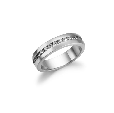 Round, Channel Set, Eternity Band