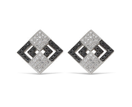 Pavé Two Square Stud