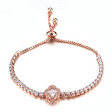 Quatrefoil Center Slider Tennis Bracelet