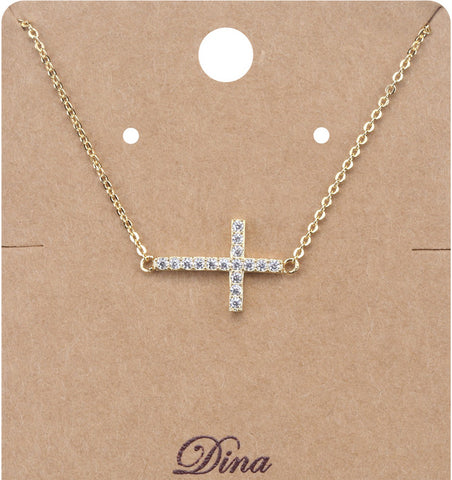 Sideways Cross Charm