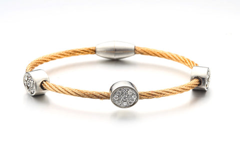 Pavé Ovals Cable Bangle