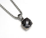Cushion Cut, Four-Prong, Pendant