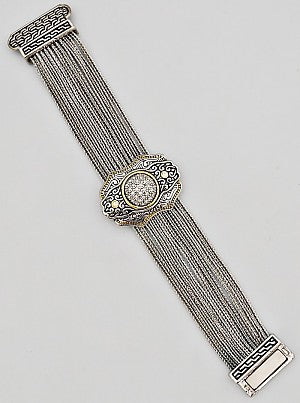 Pavé Filigree Multi-Chain Magnetic Bracelet