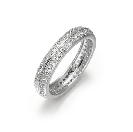 Pavé, Two Row, Eternity Band