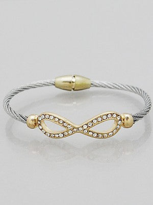 Pavé Infinity Cable Bangle