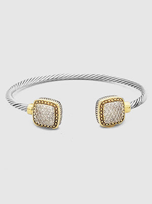 Pavé Square Accents Cable Cuff