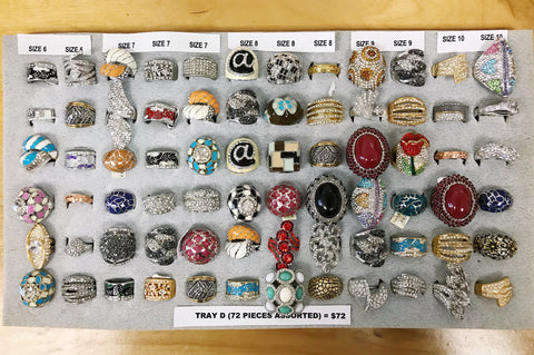 72 rings assorted