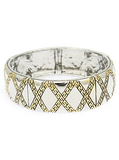 Criss Cross Pattern Hinged Bangle