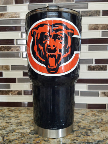 Chicago Bears Tumbler (20 or 30 oz Powder Coated) - FREE SHIPPING