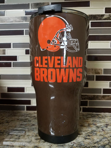 Cleveland Browns Tumbler (20 or 30 oz Powder Coated) - FREE SHIPPING