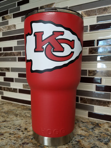 Kansas City Chiefs Tumbler (20 or 30 oz Powder Coated) - FREE SHIPPING