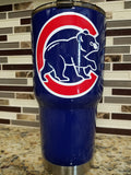Chicago Cubs Tumbler (20 or 30 oz Powder Coated) - FREE SHIPPING