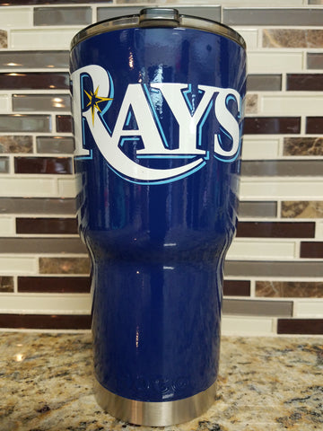Tampa Bay Rays Tumbler (20 or 30 oz Powder Coated) - FREE SHIPPING
