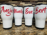 Personalized Tumbler (20 or 30 oz Powder Coated) - FREE SHIPPING