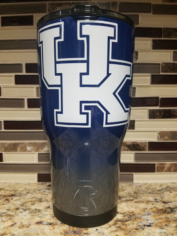 University of Kentucky Ombre Tumbler (20 or 30 oz Powder Coated) - FREE SHIPPING
