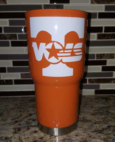 University of Tennessee Volunteers Tumbler (20 or 30 oz Powder Coated) - FREE SHIPPING