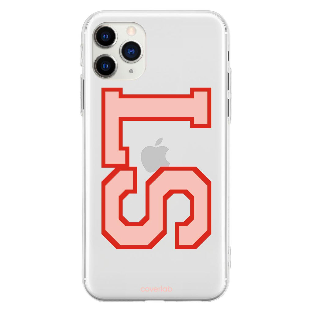 BIG Custom Varsity Initials Clear iPhone Case - Coverlab