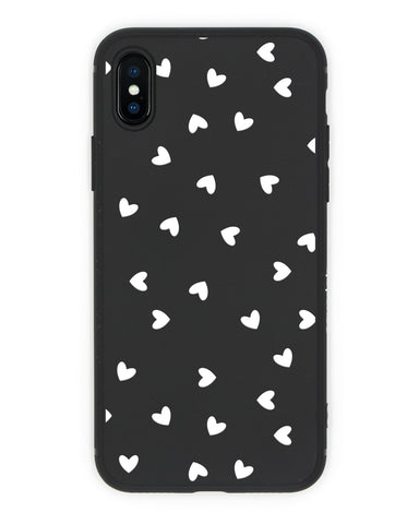 Cover Cuori Nera iPhone - Coverlab